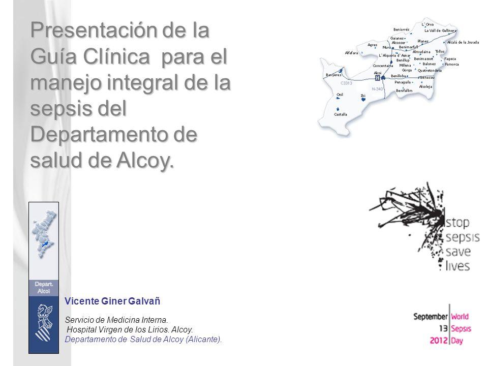 Presentación de la Guía Clínica para el manejo integral de la sepsis del Departamento de salud de Alcoy.
