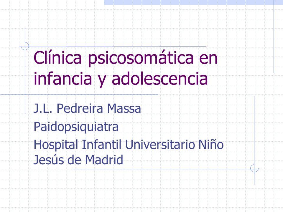 Clínica psicosomática en infancia y adolescencia