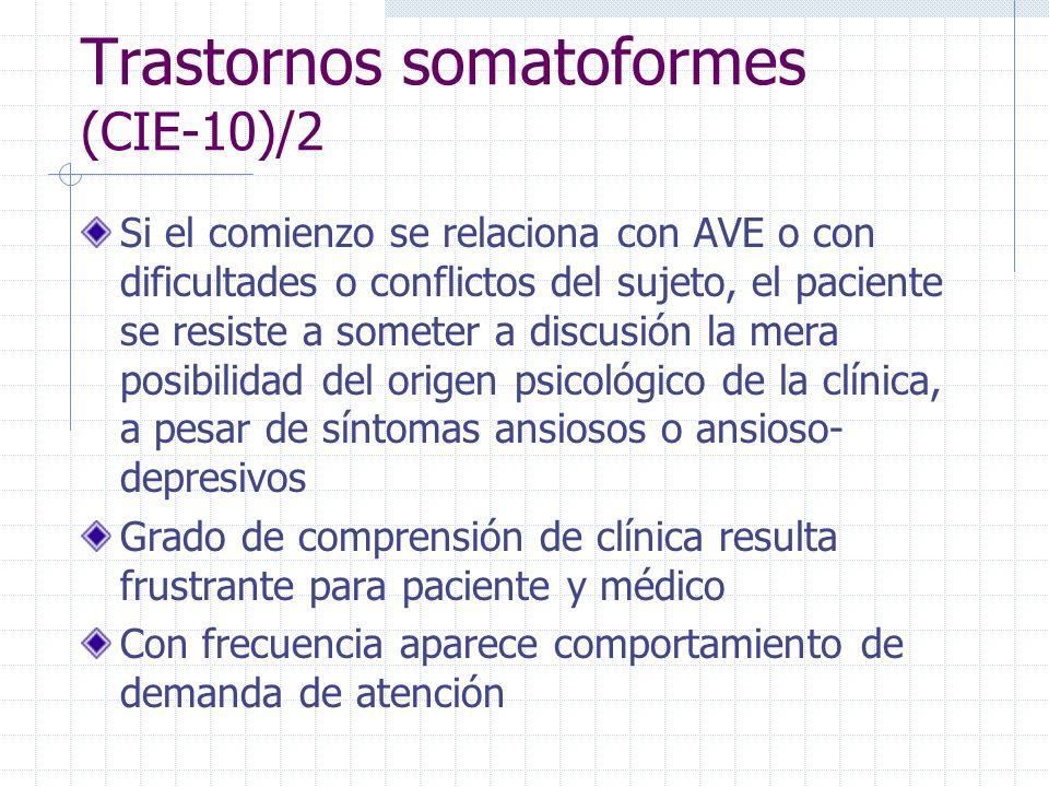 Trastornos somatoformes (CIE-10)/2