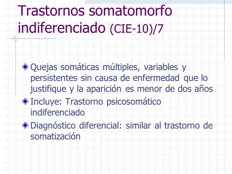Trastornos somatomorfo indiferenciado (CIE-10)/7