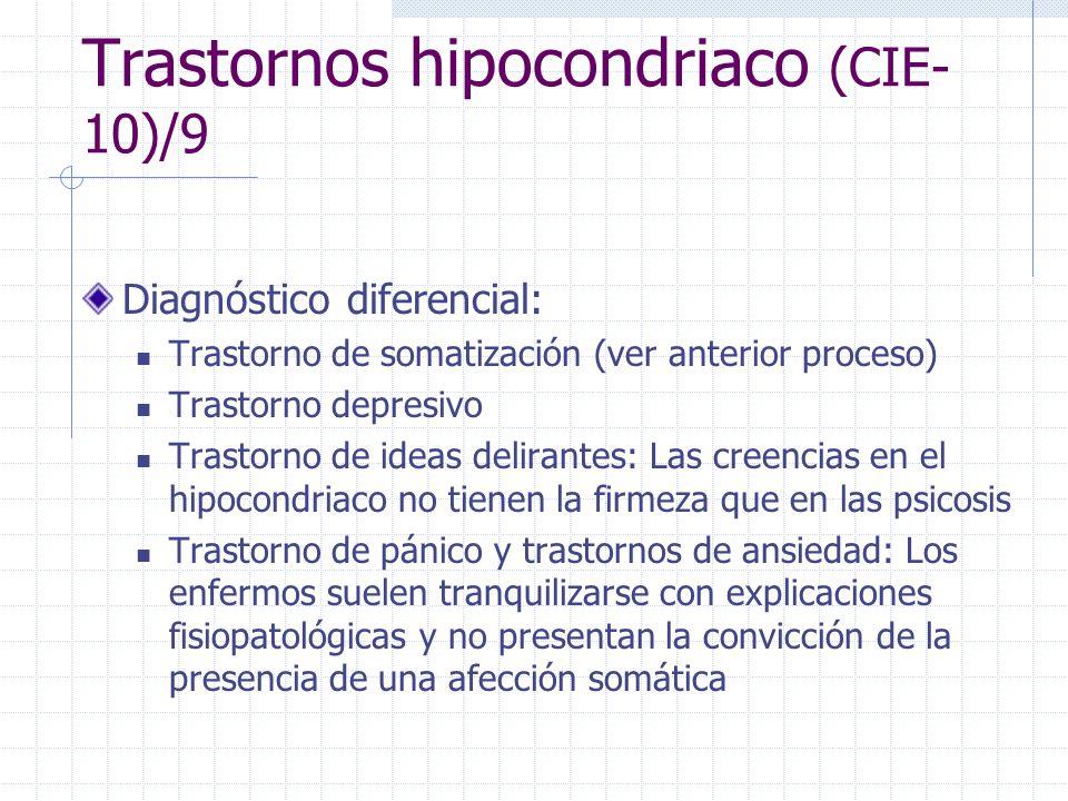 Trastornos hipocondriaco (CIE-10)/9