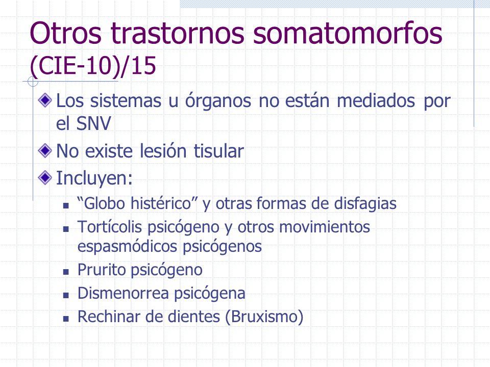 Otros trastornos somatomorfos (CIE-10)/15