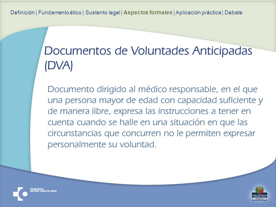 Documentos de Voluntades Anticipadas (DVA)