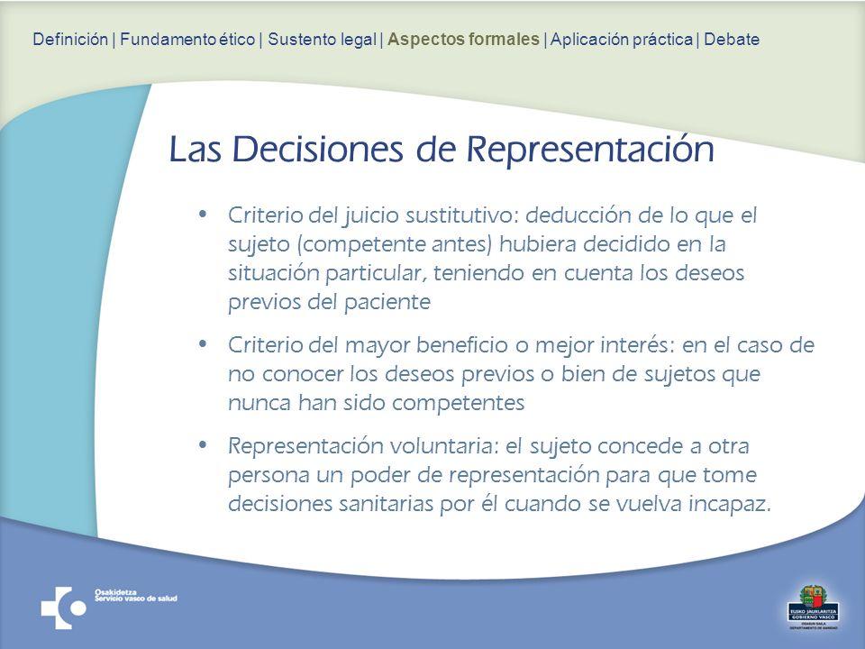 Las Decisiones de Representación