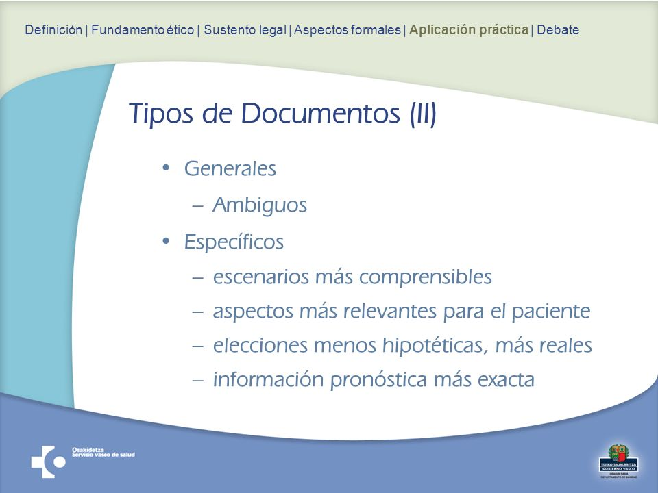Tipos de Documentos (II)