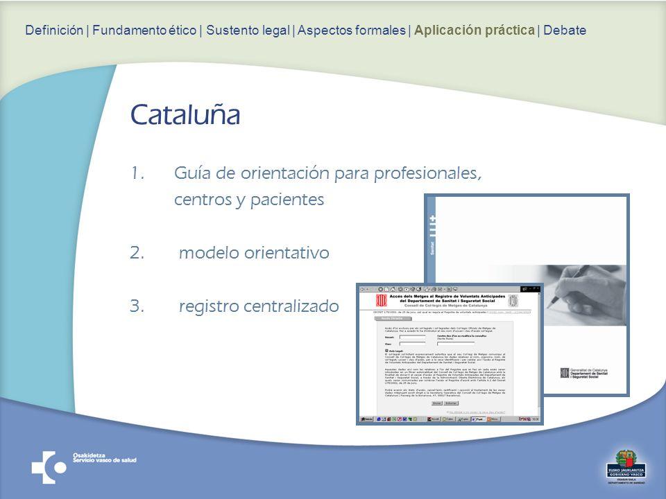 Cataluña Guía de orientación para profesionales, centros y pacientes