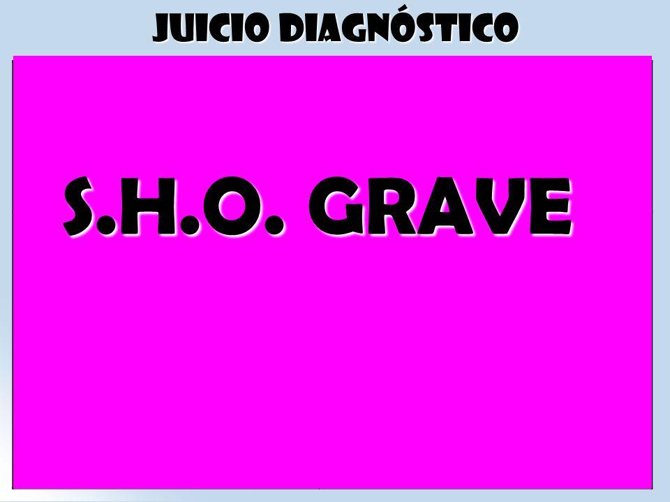 S.H.O. GRAVE Juicio diagnóstico S.H.O. LEVE: S.H.O. MODERADA: