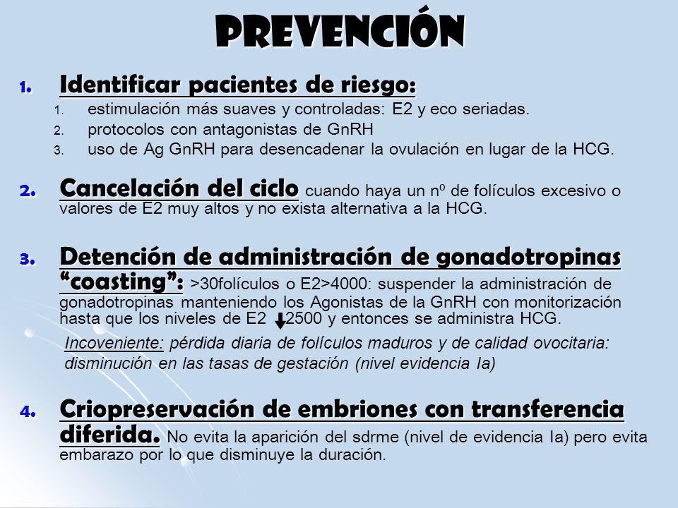 PREVENCIÓN Identificar pacientes de riesgo:
