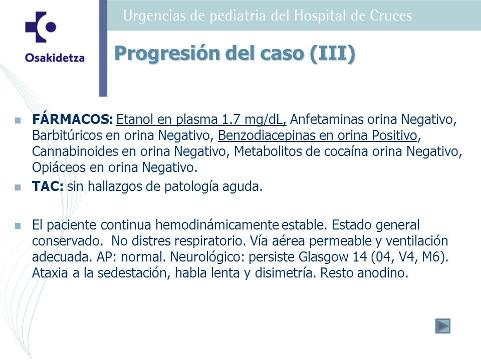 Progresión del caso (III)
