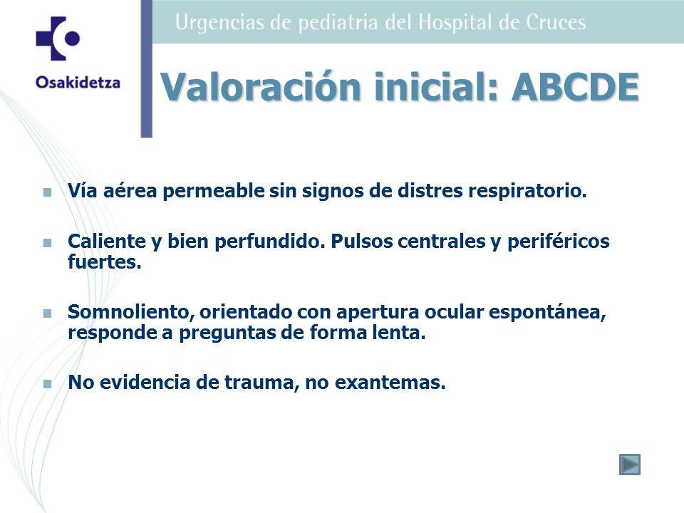 Valoración inicial: ABCDE