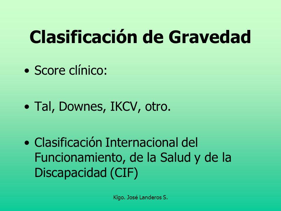 Clasificación de Gravedad