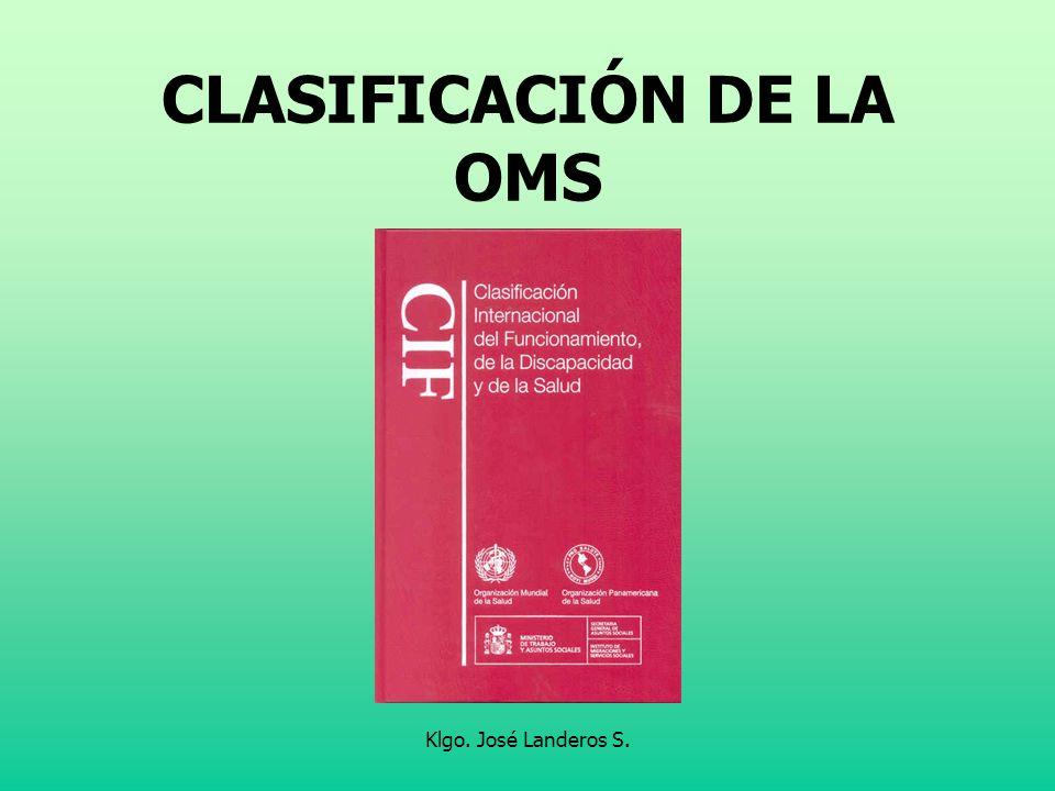 CLASIFICACIÓN DE LA OMS