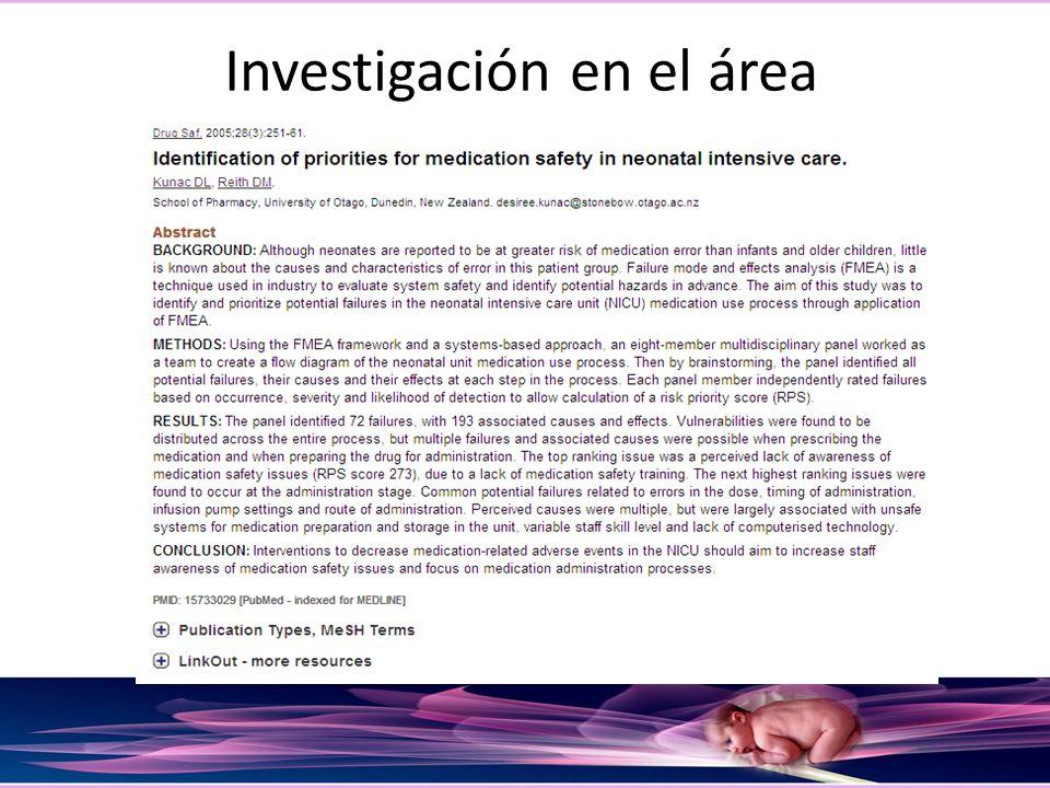 Investigación en el área