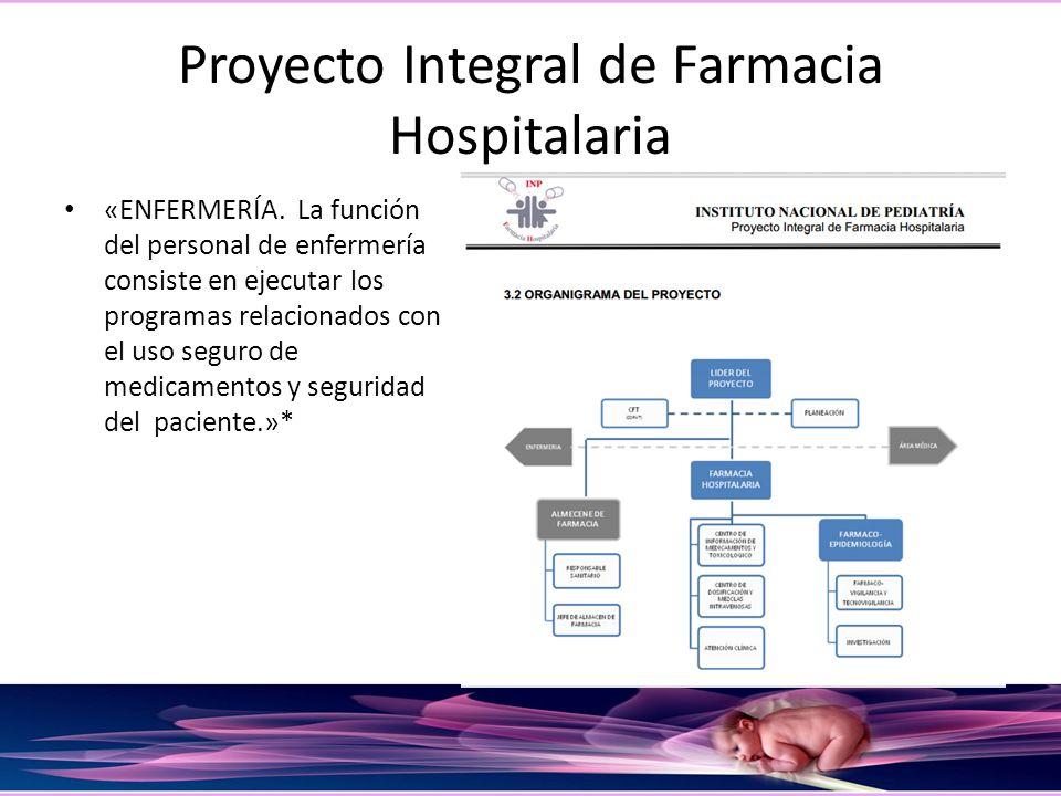 Proyecto Integral de Farmacia Hospitalaria