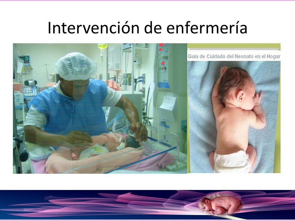 Intervención de enfermería