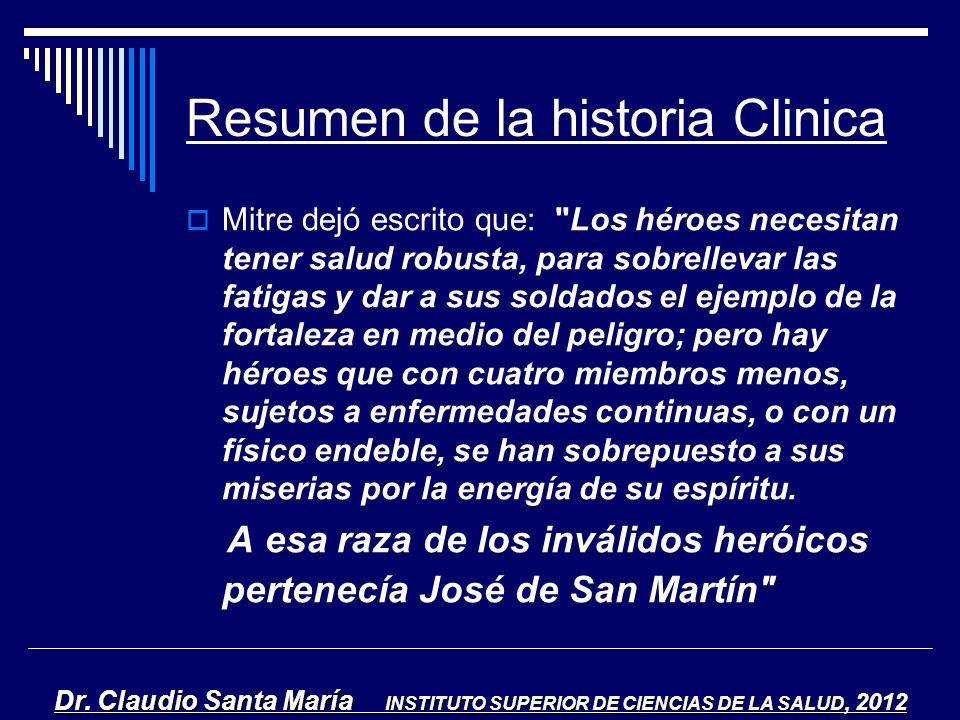 Resumen de la historia Clinica