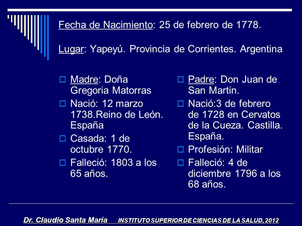 Madre: Doña Gregoria Matorras