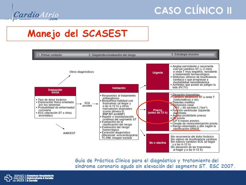CASO CLÍNICO II Manejo del SCASEST