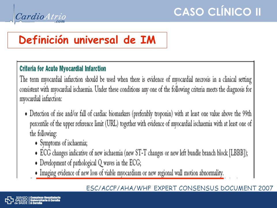 Definición universal de IM