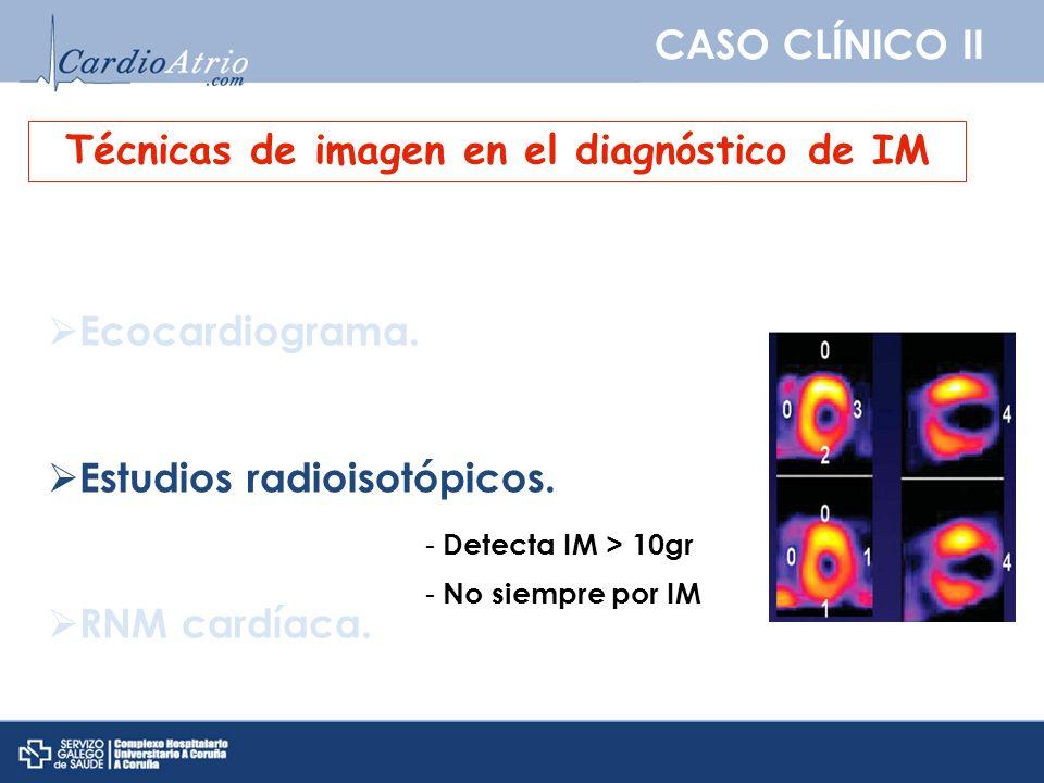 Técnicas de imagen en el diagnóstico de IM