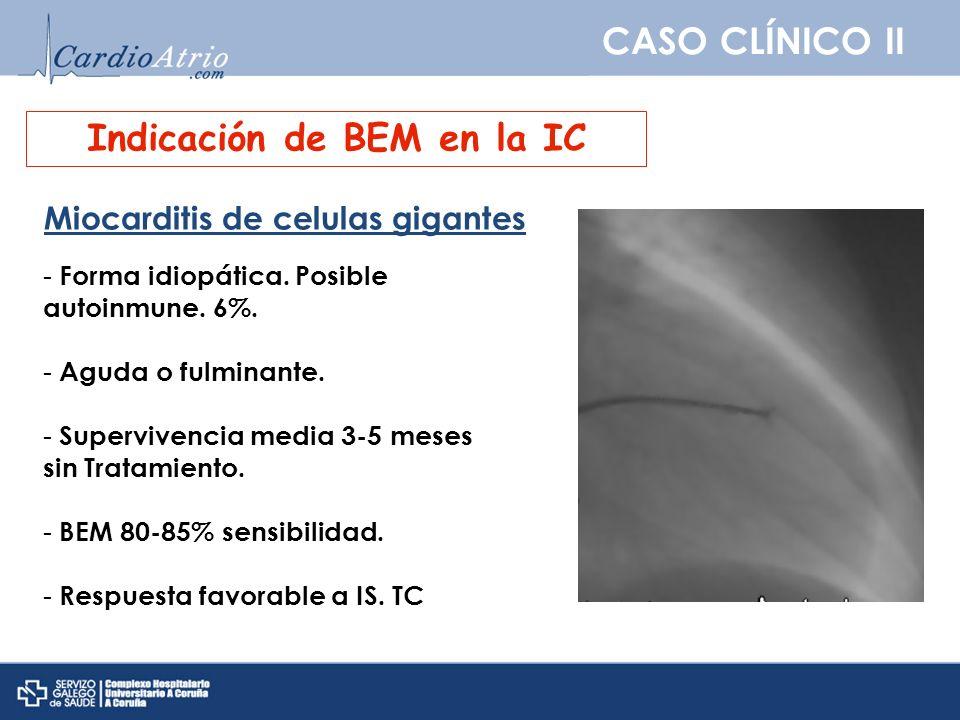 Indicación de BEM en la IC