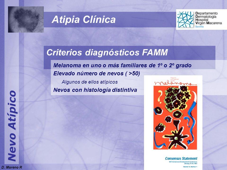 Atipia Clínica Nevo Atípico Criterios diagnósticos FAMM