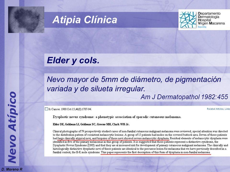 Atipia Clínica Nevo Atípico Elder y cols.