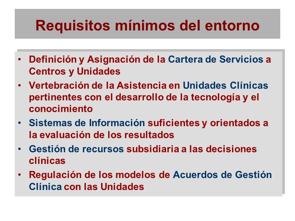 Requisitos mínimos del entorno