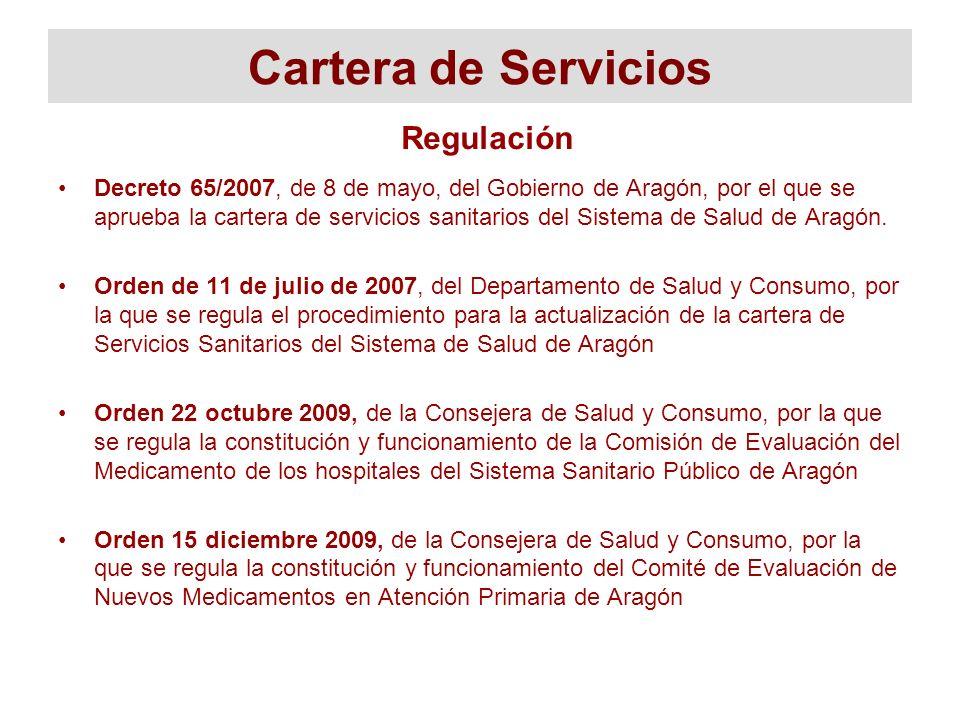 Cartera de Servicios Regulación