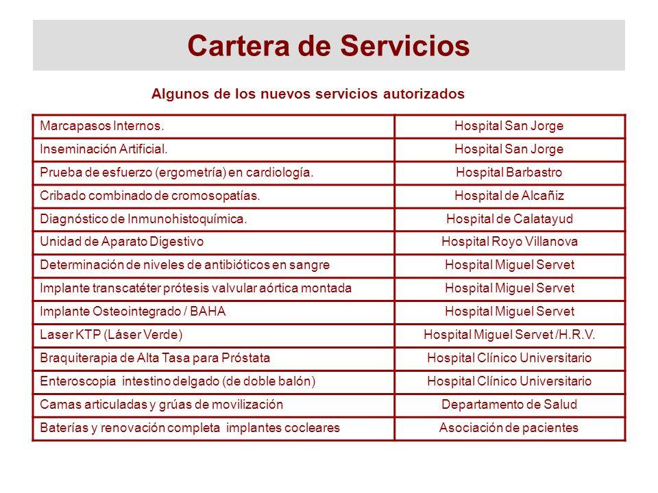 Algunos de los nuevos servicios autorizados