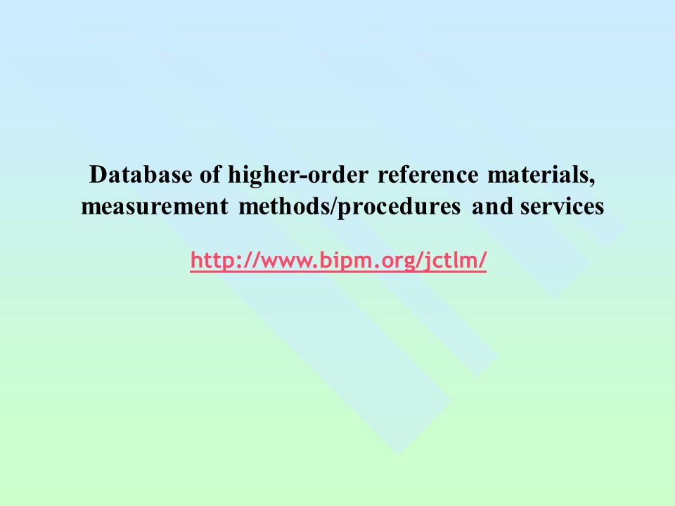 Database of higher-order reference materials,