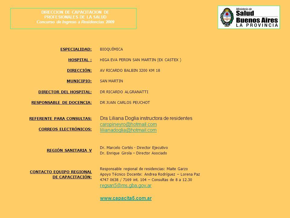 Dra Liliana Doglia instructora de residentes caropineyro@hotmail.com