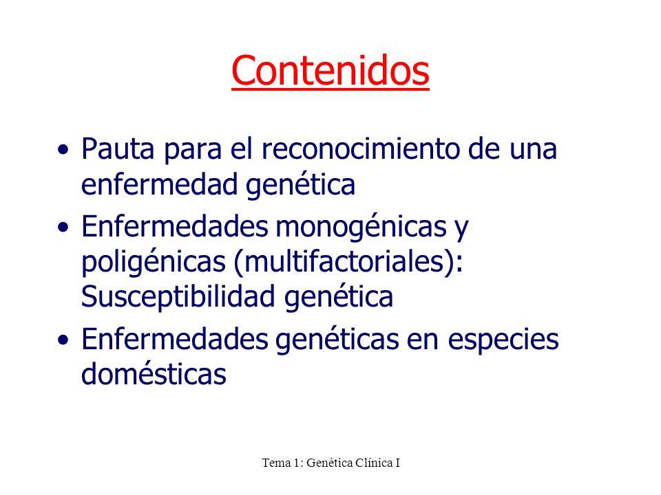 Tema 1: Genética Clínica I