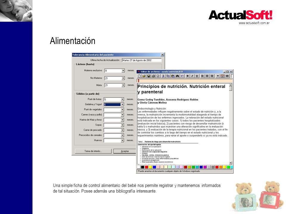 www.actualsoft.com.ar Alimentación.