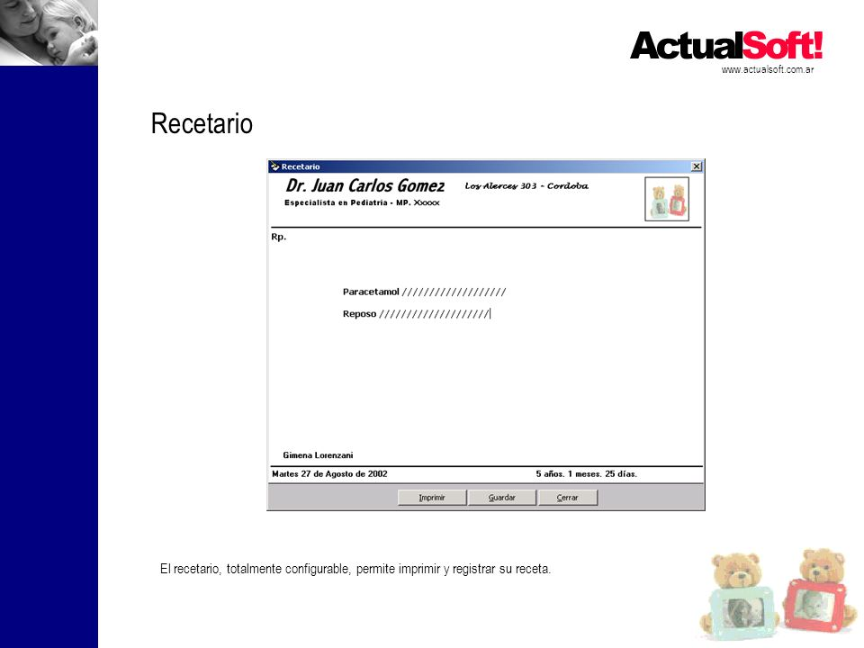 www.actualsoft.com.ar Recetario.