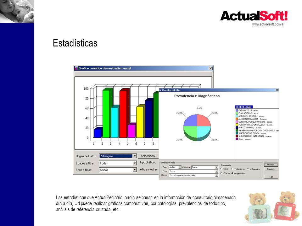 www.actualsoft.com.ar Estadísticas.