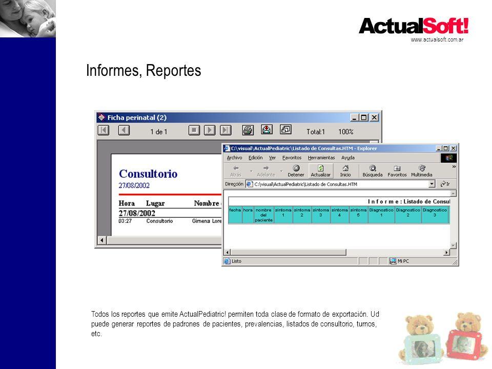 www.actualsoft.com.ar Informes, Reportes.
