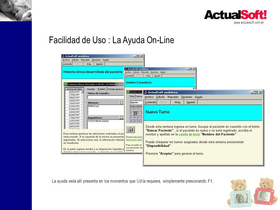 Facilidad de Uso : La Ayuda On-Line