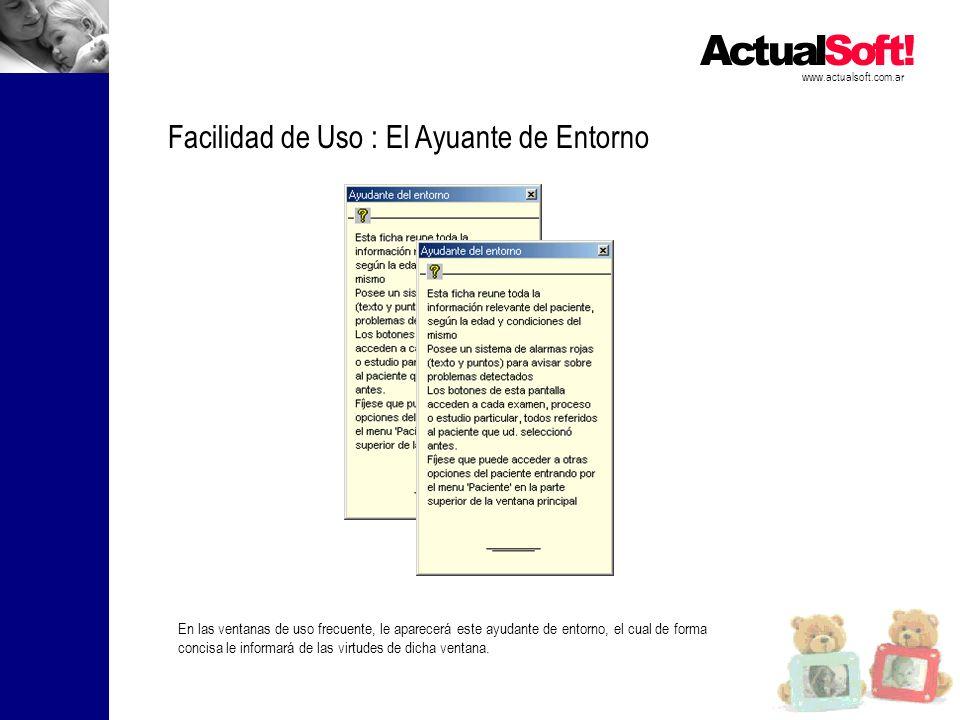 Facilidad de Uso : El Ayuante de Entorno