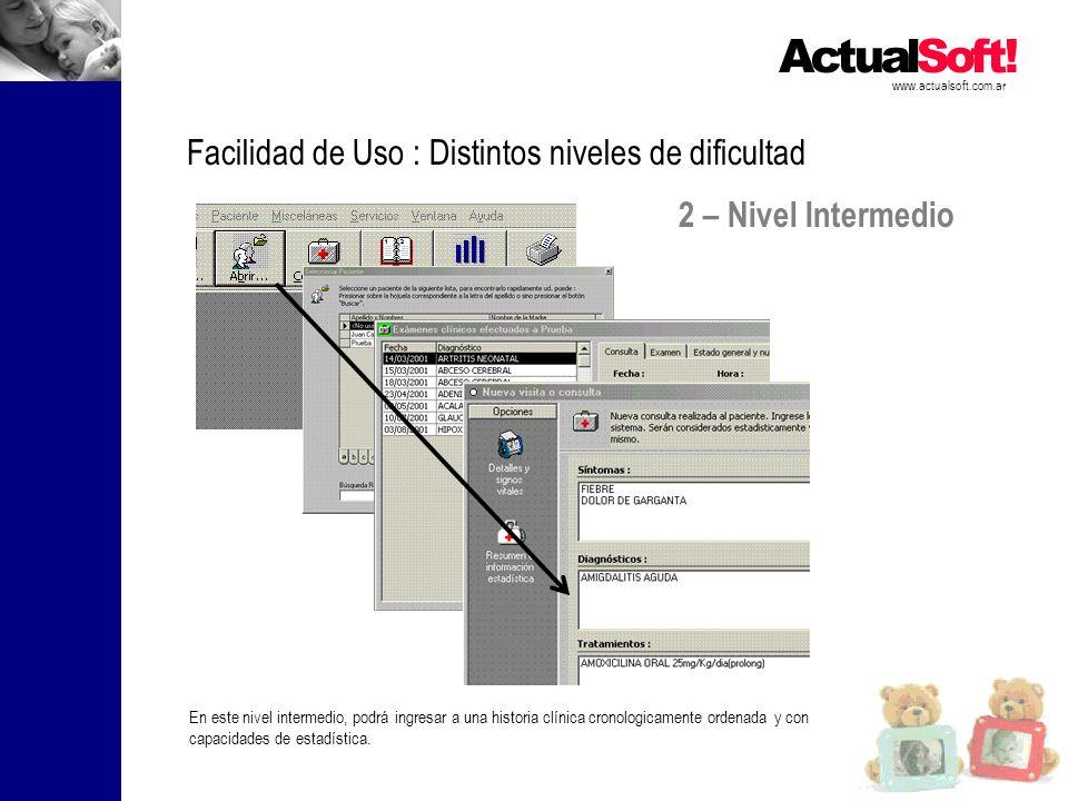 Facilidad de Uso : Distintos niveles de dificultad