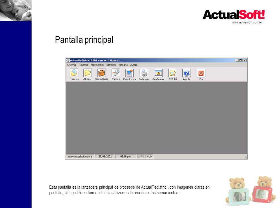 www.actualsoft.com.ar Pantalla principal.
