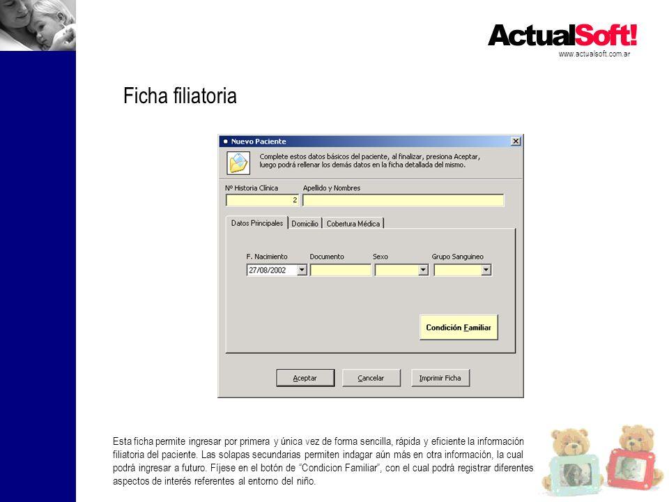 www.actualsoft.com.ar Ficha filiatoria.