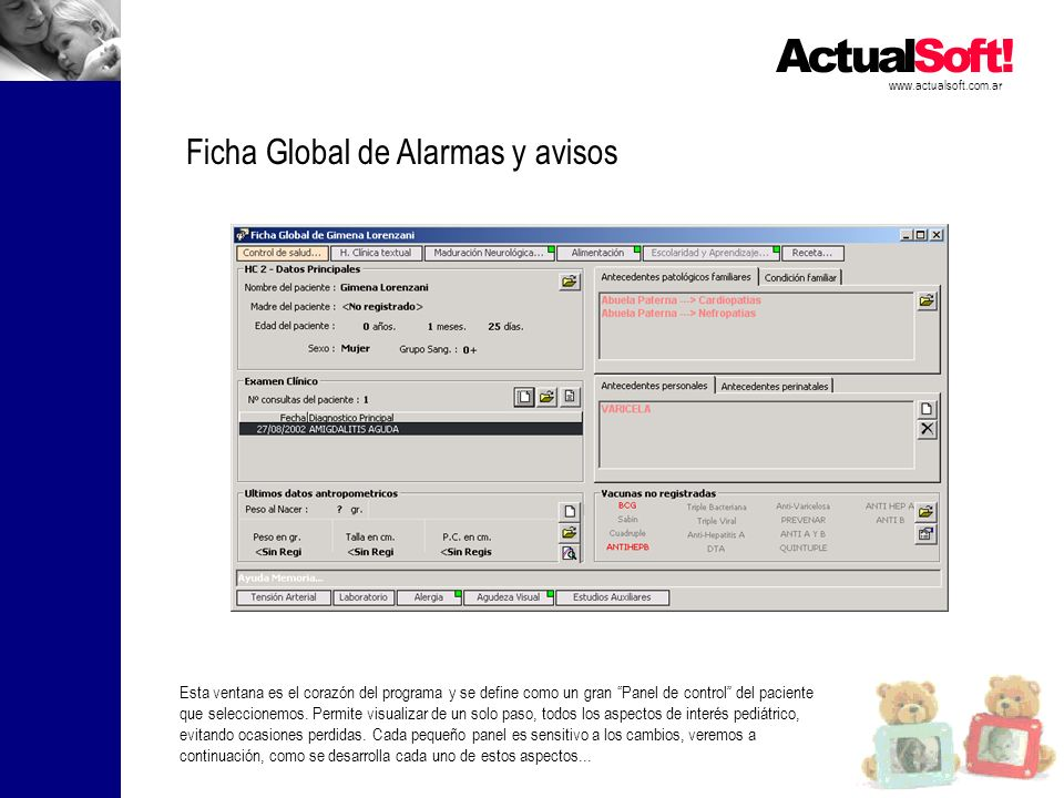 Ficha Global de Alarmas y avisos