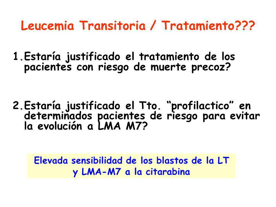 Leucemia Transitoria / Tratamiento