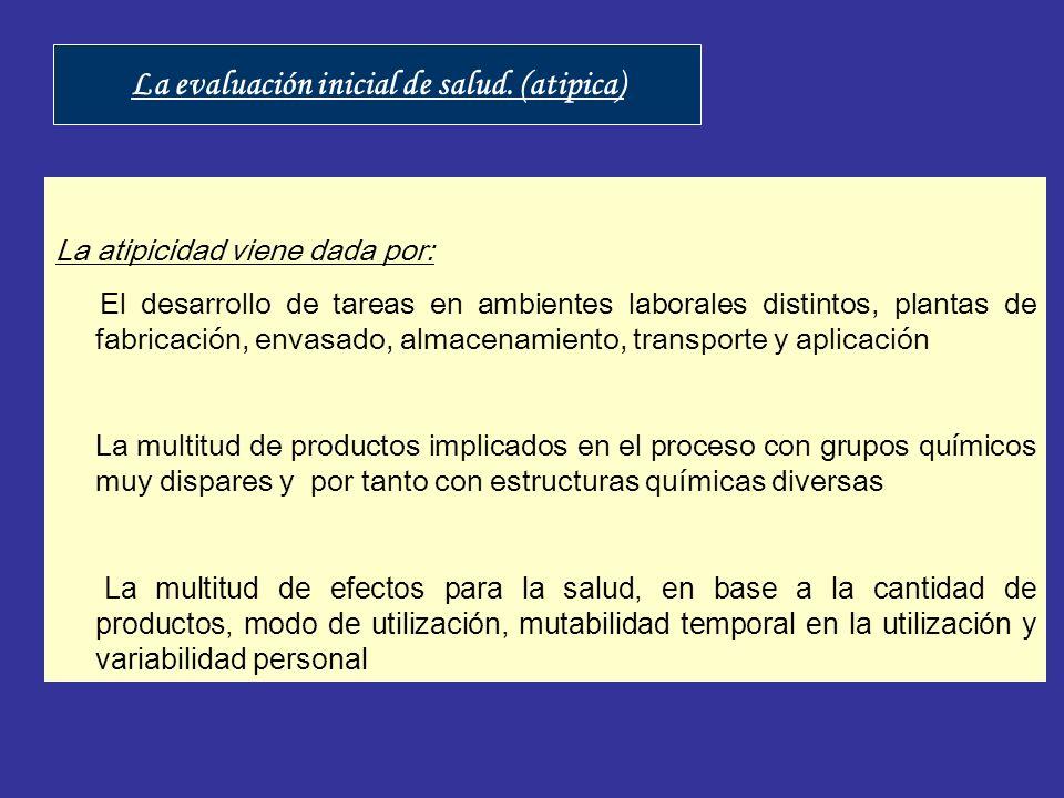 La evaluación inicial de salud. (atipica)