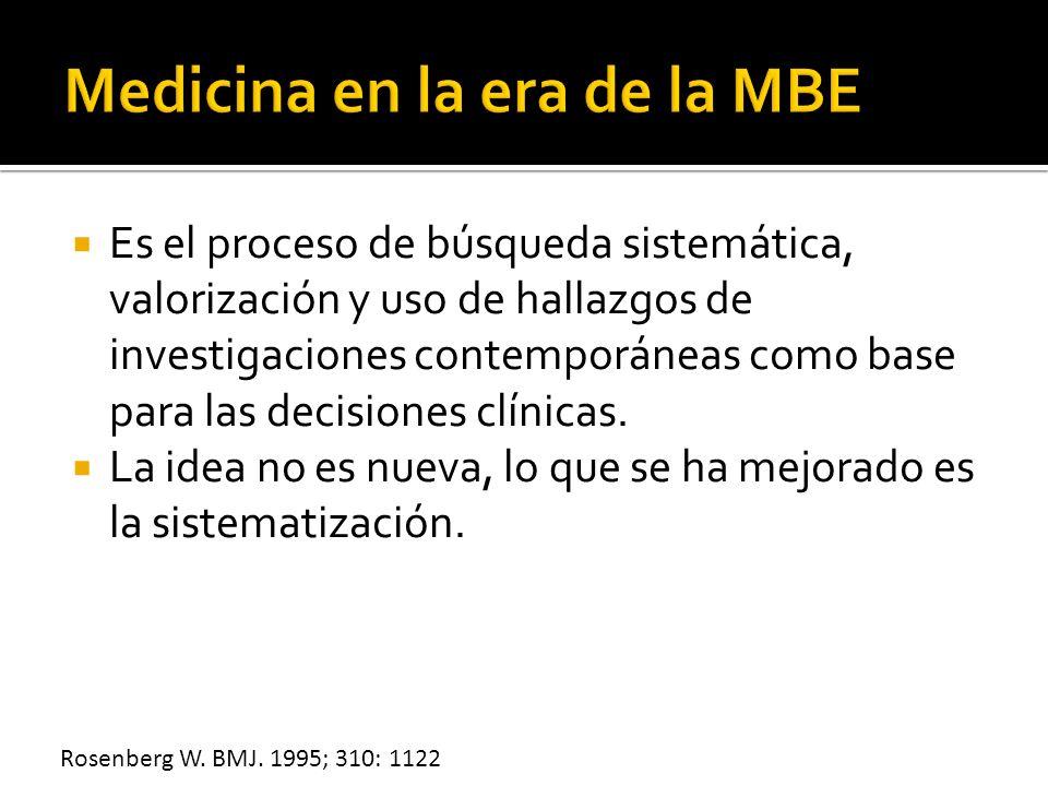 Medicina en la era de la MBE