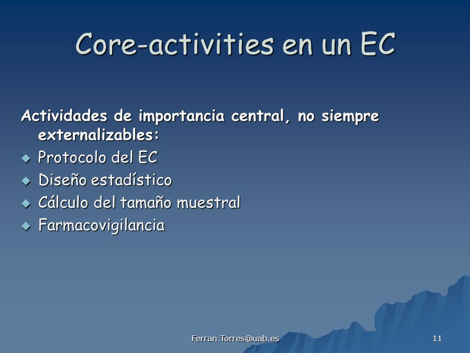 Core-activities en un EC