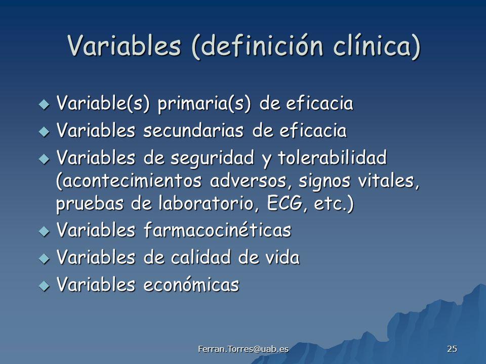 Variables (definición clínica)
