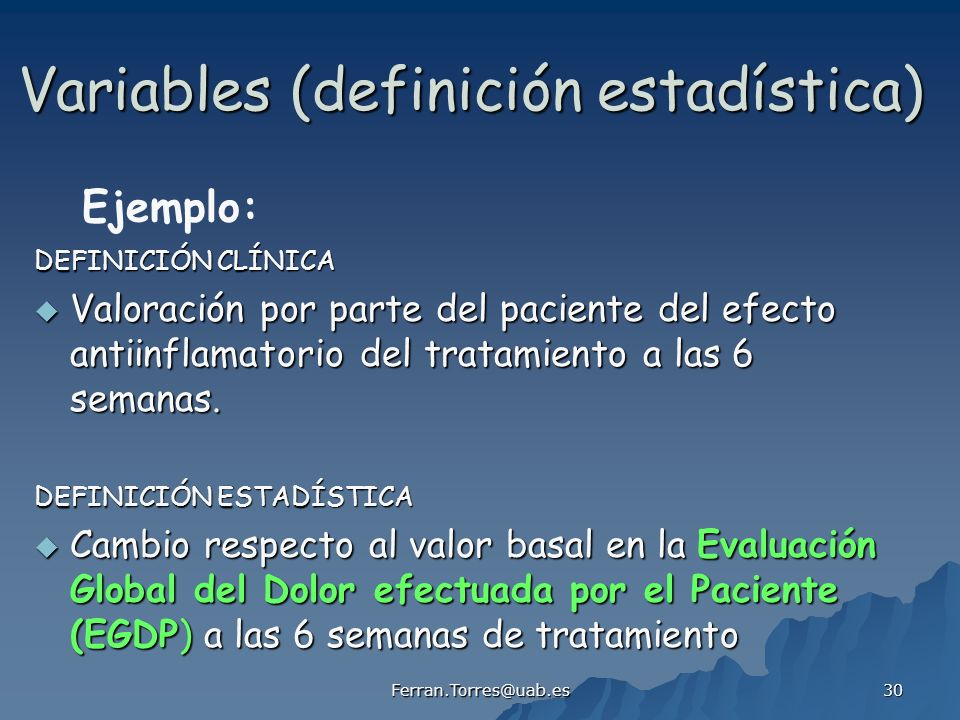 Variables (definición estadística)