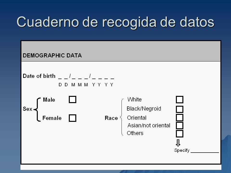 Cuaderno de recogida de datos